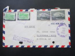 Honduras 1956 Air Mail Nach Nordenham / Blexen Schiffspost Charlotte Bastian Z. Zt. Belize Dalton Steamship Corporation - Honduras