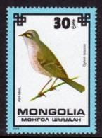 MONGOLIA - 1979 30m AIR PROTECTED BIRDS BARRED WARBLER BIRD STAMP FINE MNH ** SG 1236 - Mongolia