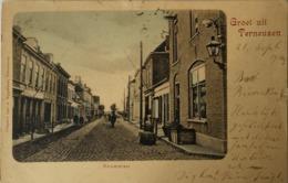 Terneuzen / Groet Uit - Nieuwstraat 1904 Verstevigd Kneus Plekje - Terneuzen