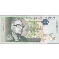 TWN - MAURITIUS 61b - 200 Rupees 2013 Prefix BW UNC - Mauritius