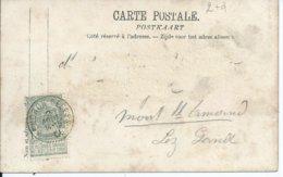 Fantasiekaart Met OCB 53 - Afstempeling GENDRON-CELLES - COBA 8 - 1893-1907 Armoiries