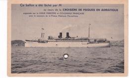BATEAU PAQUEBOT....(LACHE DE BALLON) ADRIATIQUE - Paquebots