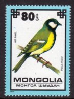 MONGOLIA - 1979 80m AIR PROTECTED BIRDS GREAT TIT BIRD STAMP FINE MNH ** SG 1240 - Mongolia