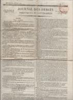 Rare Le Journal Des Débats Politiques Et Littéraires - 3 Janvier 1822 - Zeitungen