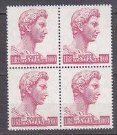 PGL DF200 - ITALIA REPUBBLICA 1974 SASSONE N°811A ** QUARTINA - 6. 1946-.. Repubblica