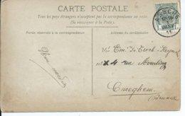 Fantasiekaart Met OCB 81 - Afstempeling ASSCHE Type 2L - COBA 8 - 1893-1907 Coat Of Arms