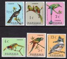 PANAMA - 1967 WILD BIRDS SET (6V) FINE MNH ** SG 944-949 - Panama