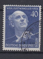 Berlin 128 1.Todestag Von Wilhelm Furtwängler 40 Pf Gestempelt /1    - [5] Berlin