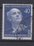 Berlin 128 1.Todestag Von Wilhelm Furtwängler 40 Pf Gestempelt /1    - Berlin (West)