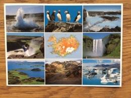 Iceland IJsland, Strokkur Lundar Bláa Ióniô Gullfoss Skógafoss Skútustaôagigar Landmannalaugar Jökulsárlón, Used - Iceland