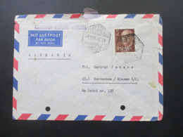 Spanien 1956 Luftpost / Airmail Und Schiffspost Oficial Radiotelegrafista Charlotte Bastian Santa Cruz Tenerife - 1951-60 Briefe U. Dokumente