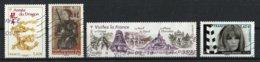 France 2012 : Timbres Yvert & Tellier N° 4631 - 4654 - 4661 - 4690 - 4693 Et 4697 + Vignette Et Avec Oblit. Mécaniques. - France