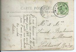 Fantasiekaart  Met OCB 83 - Afstempeling  MARCHIN 2  - COBA 30 - 1893-1907 Armoiries