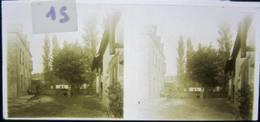 OYRE Près Vaux Sur Vienne (86) : 2 Plaque De Verre Stéréoscopique Positif - Glass Slides