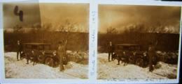Vosges, Route Des Crêtes, Mai 1927 : Voiture Bloquée Par La Neige. Plaque De Verre Stéréoscopique Positif - Glass Slides