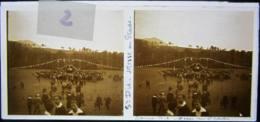 SAINT DIE, Vosges : Messe Au Stade, Vers 1927. Plaque De Verre Stéréoscopique Positif - Glass Slides