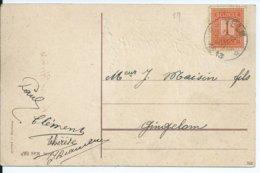 Fantasiekaart  Met OCB 108 - Afstempeling VELM  - COBA 8 - 1912 Pellens