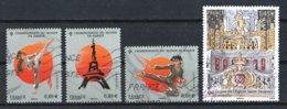 France 2012 : Timbres Yvert & Tellier N° 4680 - 4681 - 4682 Et 4709 Avec Oblit. Mécaniques. - France
