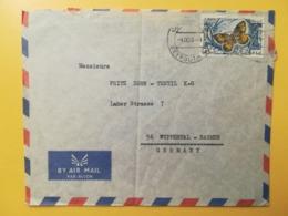 1965 BUSTA LIBANO LIBAN STORIA POSTALE BOLLO FARFALLE BUTTERFLIES ANNULLO OBLITERE' BEYROUTH AIR MAIL GERMANY - Lebanon