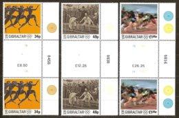 Gibraltar 1996 Yvertn° 780-782 Gutterpair *** MNH Cote 18,00 Euro Centenaire Des Jeux Olympiques - Gibraltar