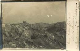 231019 - CARTE PHOTO GUERRE 1914 18 - Une Tranchée Au Mort-Homme Au Lendemain De L'attaque 20 Avril - Bataille De Verdun - France