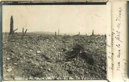 231019 - CARTE PHOTO GUERRE 1914 18 - Bataille De Verdun - Le Bois Fumin Vue Sur Le Fort De Vaux - Other Municipalities