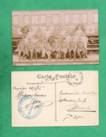 Militaria Guerre 1915 Train Sanitaire Semi Permanent No 9 Lot De 2 Cartes  ( Format 9cm X 14cm ) - Guerre 1914-18