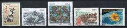 France 2015 : Timbres Yvert & Tellier N° 4926 - 4930 - 4931 - 4934 - 4946 Et 4966 Avec Oblit. Mécaniques. - France