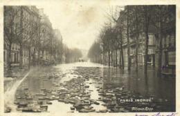"""""""PARIS  INONDE"""" Avenue Rapp RV - Inondations De 1910"""