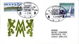 "(Bu-B4) BRD Sonder-Umschlag ""Leipziger Messe"" MiF BRD Mi 1650+ATM SSt 8.3.1994 LEIPZIG 1 - Lettres & Documents"