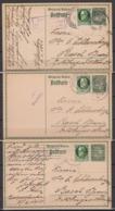 Bayern 3x P 93I In Sonderverwendung Als Auslandskarten Von Kaiserslautern 1914-1916 In Die Schweiz, 3x Zensur - Bavière