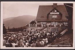 Sněžka Brückenberg Riesengebirge Schneekoppe Śnieżka Sudeten Teichmannbaude Fotokarte 1932 Mit Bautenstempel - Sudeten