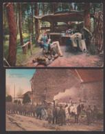 Handwerker Im Hochwald, Vogesen, Schuster, Schneider, Essen-Ausgabe An Der Feldküche CAk 1916 - Materiaal