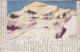 74 CHAMONIX MONT BLANC CARTE ILLUSTRATEUR LE MONT BLANC ROI DES ALPES Editeur KILLINGER 14 - Chamonix-Mont-Blanc