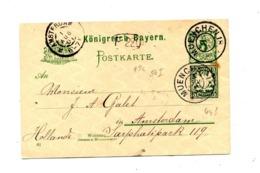 Carte Postale 5  + Timbre Cachet Munich  Amsterdam - Bavière