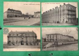 14 Calvados Caen Casernes Lot De 4 Cartes Postales - Caen