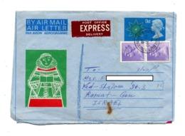 Aerogramme 9 Reine + Timbre Cachet Sussex - Entiers Postaux