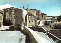 CPSM Grand Format  ELNE (Pyr Or) Les Remparts ,la Porte Balaguer Colorisée RV - Elne