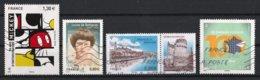 France 2018 : Timbres Yvert & Tellier N° 5259 - 5266 - 5273 + Vignette - 5274 - 5289 - 5290 Et 5291 Avec Oblit. - Oblitérés