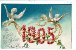 CPA-Carte Postale  -FRANCE-Bonne  Année 1905- Avec 2 Colombes -VM8007 - Neujahr