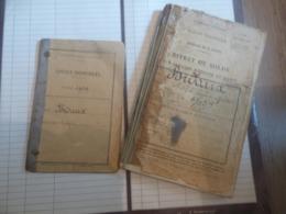Lot De 3 Livrets Militaires Dont 2 Attachés (marine) (même Personne) Classe 1919 - Documents