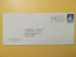1963 BUSTA INTESTATA DANIMARCA DENMARK BOLLO BALLETTI BALLET ANNULLO OBLITERE' COPENAGHEN ETICHETTA - Danimarca