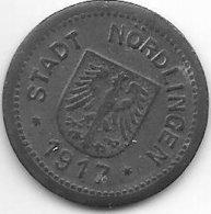 *notgeld  Nordlingen10 Pf 1917  Zn  381.2 - [ 2] 1871-1918: Deutsches Kaiserreich