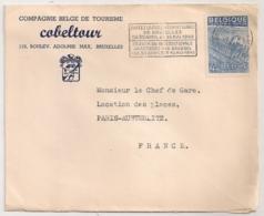 ENVELOPPE / COMPAGNIE BELGE DE TOURISME COBELTOUR BRUXELLES A PARIS AUSTERLITZ  B1101 - Covers & Documents