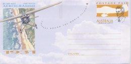 AUSTRALIA - Busta Intero Postale - FASTEST ROUND THE WORLD FLIGHT - HAROLD GATTY  1931 - Aerei