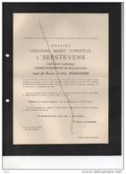 Messire T'Serstevens Emilie Massange Bourgmestre Baillonville °Stavelot 1870 + 28/6/1951 Cardon De Lichtbuer Massange - Décès