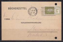 Dt.Reich Bücherzettel Mit 1x 465 OR Walze 2`9`2 Ab Berlin-Charlottenburg/3.5.32 - Storia Postale