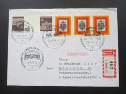 Berlin 1971 SST Historische Ausstellung Umschlag Des Hotel Schweizerhof Berlin Einschreiben Berlin 462 Vn 1 Berlin 12 - Cartas