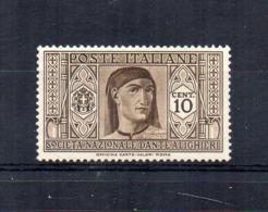 Italia - Regno - 1932 - Pro Società Nazionale Dante Alighieri - 10 Centesimi - Nuovo ** - (FDC17784) - 1900-44 Victor Emmanuel III