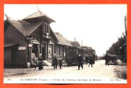 """CPA 88  La Schlucht """" Arrivée Du Tramway électrique De Munster """" - Francia"""